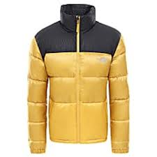 North Face Puffer Jacket Size Chart The North Face M Nuptse Iv Jacket Golden Spice Tnf Black