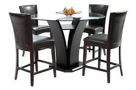 glass top counter height dining table set modern rectangle heigh round glass top counter height table