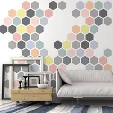 honeycomb allover wall stencil reusable stencils for diy wall decor