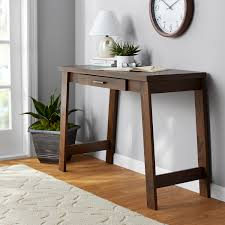 mainstays logan writing desk with pullout drawer multiple finishes com