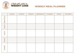 Weight Loss Menu Planner Template Free Printable Weight Loss Planner Max Calendars