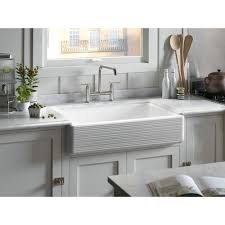 White Apron Kitchen Sink Kohler Whitehaven Smartdivide Undermount Farmhouse Apron Front