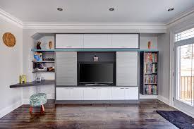 wall unit entertainment center media cabinet custom cabinets desk work surface