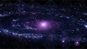 Incandescent Purple Galaxy On Black Sky ...