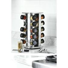 spice rack organizer stainless steel lazy rotating filled jars new susan target