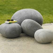 Giant Outdoor Felted Wool Stones