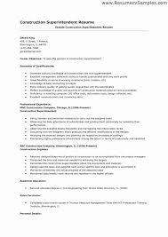 Construction Superintendent Resume Sample Ataumberglauf Verbandcom