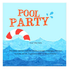 Free Pool Party Invitations Printable Free Pool Party Invitations Invitation Cards