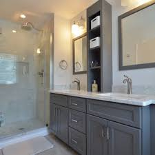 75 beautiful gray bathroom pictures