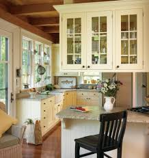 Kitchen Cottage Floating White Kitchen Cabinet Glass Door Country Cottage Style