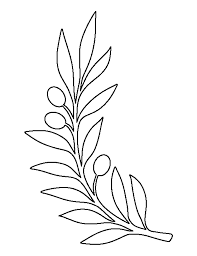 Branch Template Printable Olive Branch Template