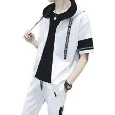 <b>AmberHeard Summer Fashion Men</b> Sweatsuit Set Short Sleeve ...