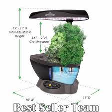 miracle gro hydroponic grow system classic 6 with gourmet herb seed aerogarden