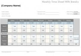 timecard with lunch breaks free timesheet calculator template