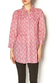 Rock Paper Flower Tunics Pintuck Cotton Tunic