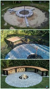 garden fire pit. DIY Cobble Garden Firepit With Bench Instruction - Patio Projects [Free Plans Fire Pit C