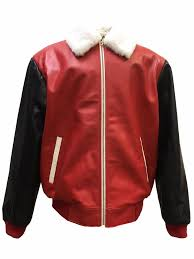 details about jakewood men s spring leather baseball varsity jacket with mink collar size 2xl