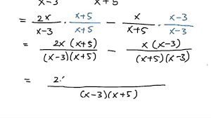 adding and subtracting rational expressions no common factors