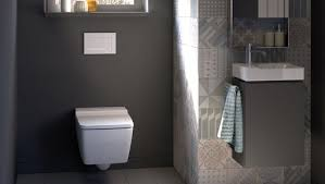 ... Geberit in-wall toilet system in pre-wall construction with Sigma30  flush plate ...