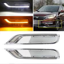Drl Light Honda Crv Kaizen Refitting Daytime Running Lights Led Drl Front Bumper Fog Lamp With Yellow Turn Signal Light For Honda Crv Cr V 2015 2016