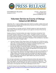 10 22 10 Press Release Volunteer Service To County