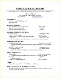 Cv Template Scholarship Application Simple Resume Format Scholarship