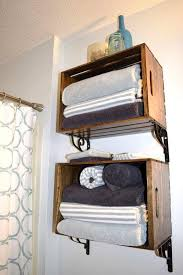 spectacular wooden crate bathroom storage shelf towel rack bathroom shelving for towels comfy ideas to towels in your bathroom shelterness interior
