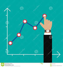 Isol Stock Chart Finger Up Holding Chart Arrow Businessman Manages Financial