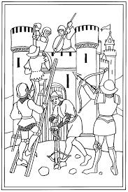 Coloriage De Chevalier Du Moyen Age L L L L L L L L L L
