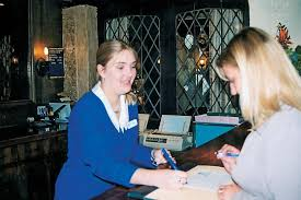 a work experience uk partint working at a hotel front desk