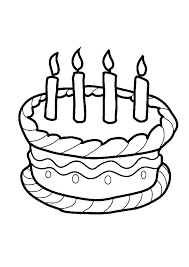 Birthday Cake Printable Images Birthday Cake Coloring Pages