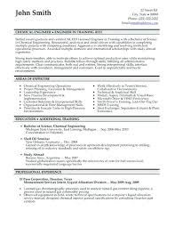 Chemical Engineer Resume Template Professional Engineering Facile