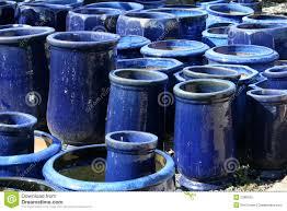 Garden Pots Large Ceramic Garden Pots Stock Photo Image 63973808