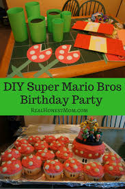 My favorite super mario party ideas and elements from this awesome event are: Diy Super Mario Bros Birthday Party Real Honest Mom