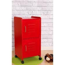 Locker Bedroom Furniture Kids Locker Cupboard In Red Girls Bedroom Furniture Cuckooland