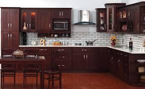 Vintage Merlot Kitchen Cabinets Nice Look