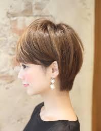 ミセス大人の耳掛けショートヘアke 487 ヘアカタログ髪型ヘア