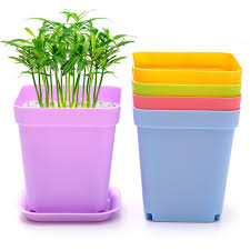 Enchanting Coloured Plastic Flower Pots 13 For Your Interior Decorating  with Coloured Plastic Flower Pots