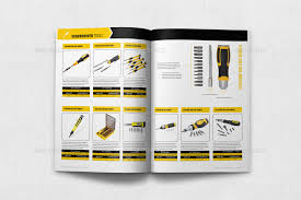 Product Catalog Templates Hand Tools Products Catalog Brochure Template 24 Pages