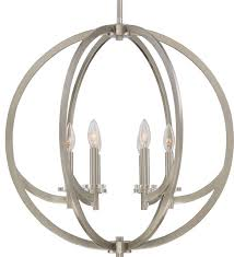 luxury globe nickel hoops chandelier uql2552 denver collection
