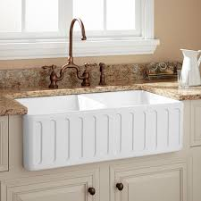 double bowl durable farmhouse sink signature hardware