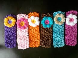 puffy flower headbands