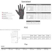 Fox Youth Size Chart Gloves Fox Ranger Youth Glove