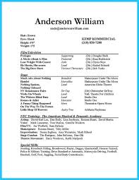 How To Make An Acting Resume For Beginners Actor Resume Sample Presents How You Will Make Your