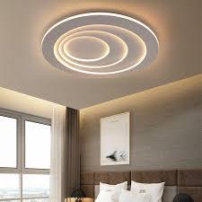 modern round led flush mount circular