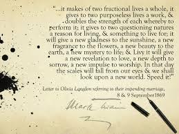A Beautiful Wedding Quote Compliments Of Mark Twain Mark Twain