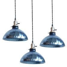 sea glass pendant light ing blue green lights