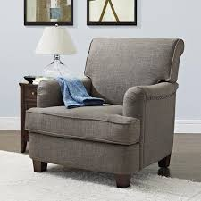 better homes and gardens grayson rolled top club chair with nailheads gray