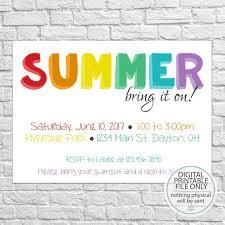 Barbeque Invitation Summer Party Invitation Backyard Barbeque Invitation Picnic