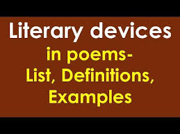 literary devices in poems cl 9